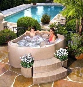 Small Hot tub Ideas: Roto Molded Design