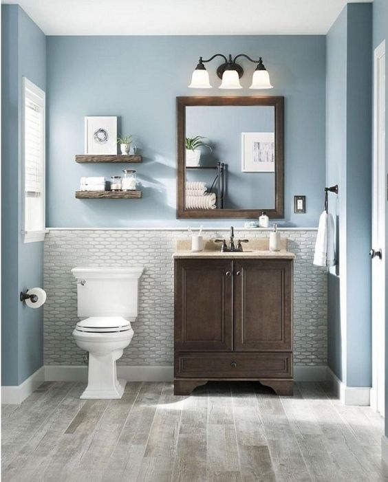 Bathroom Paint Ideas: Catchy Nautical Decor