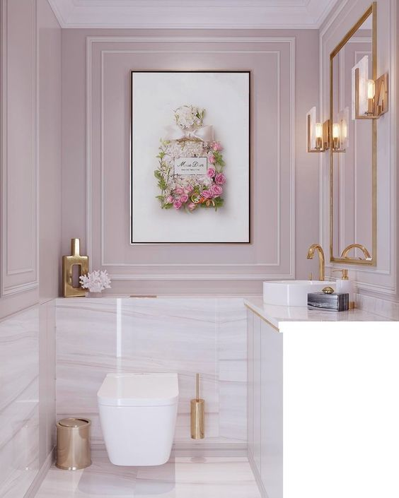 Bathroom Paint Ideas: Earthy Glamorous Decor