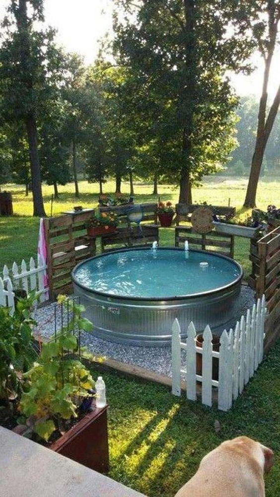 Cheap Swimming Pool Ideas: Stock Tank Pool