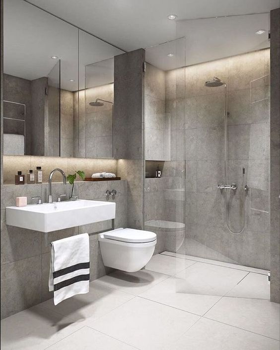 Gray Bathroom Ideas 22