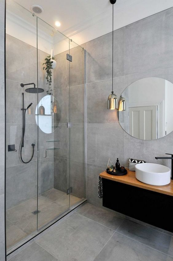 Gray Bathroom Ideas: Modern Rustic Decor