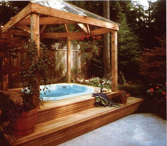 Hot Tub Ideas: Modern Pergola Design