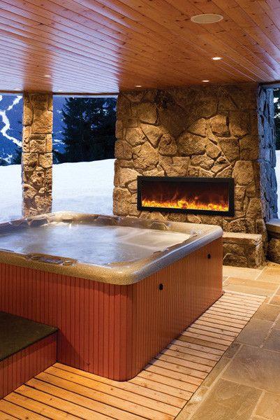 Indoor Hot Tub Ideas: Stunning Earthy Room