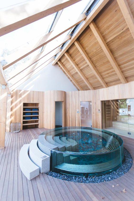 Indoor Hot Tub Ideas 24