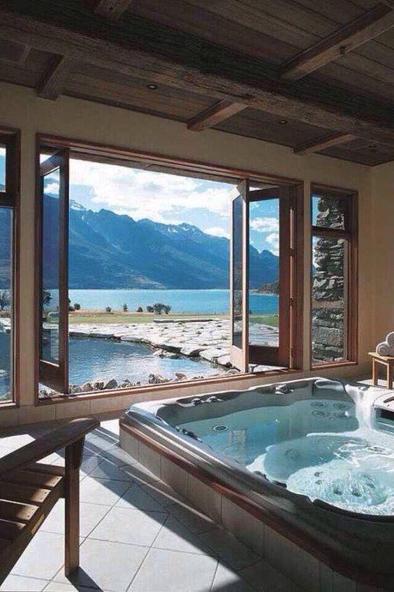 Indoor Hot Tub Ideas: Exhilarating Beautiful Room