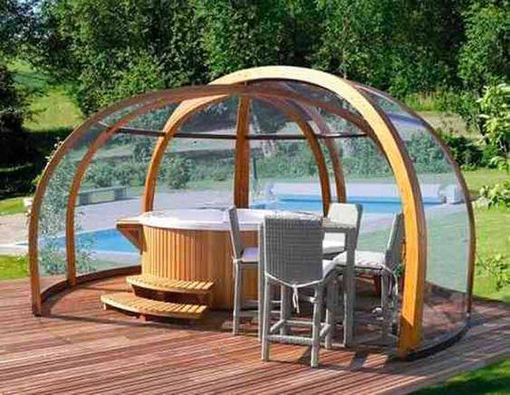 Indoor Hot Tub Ideas: Mesmerizing Cozy Dome