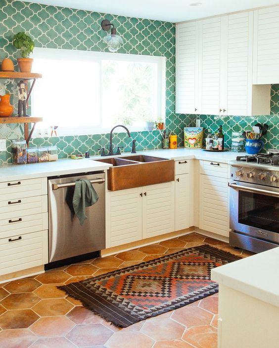 Kitchen Colors Ideas: Catchy Boho Decor