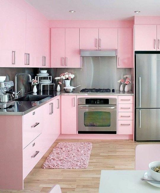 Kitchen Colors Ideas: Chic Feminine Decor