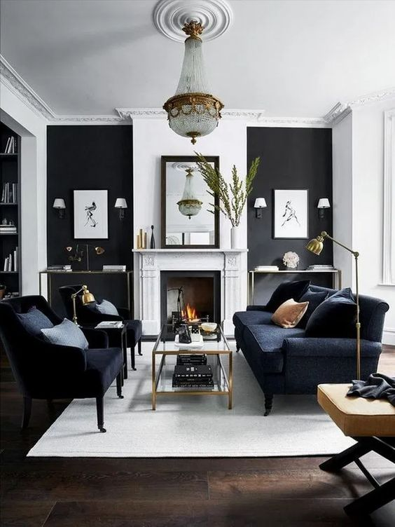 Modern Living Room Ideas: Monochrome Transitional Decor