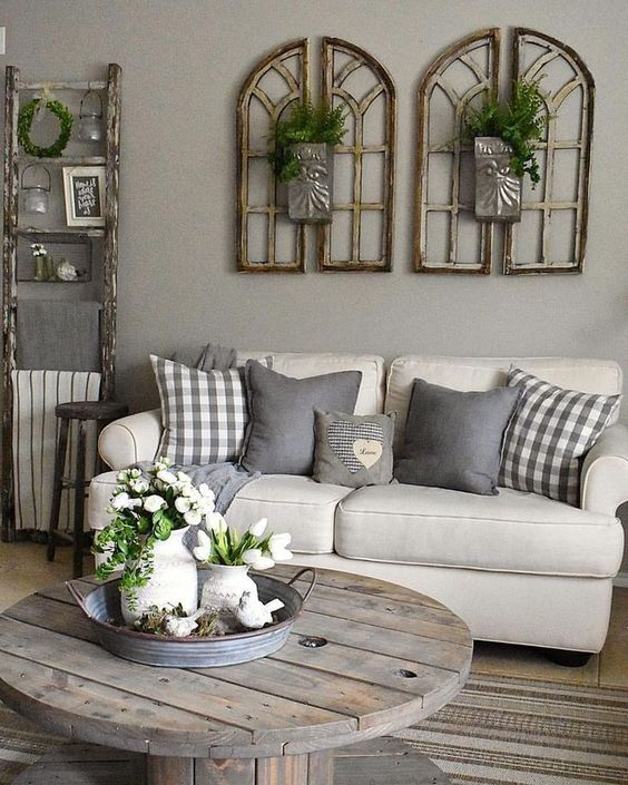 Neutral Living Room Ideas: Chic Farmhouse Decor