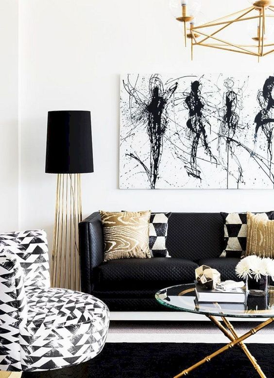 Neutral Living Room Ideas: Glamour Monochrome Decor