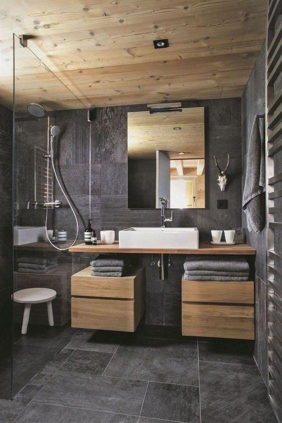 Bathroom Wood Ideas: Masculine Rustic Bathroom