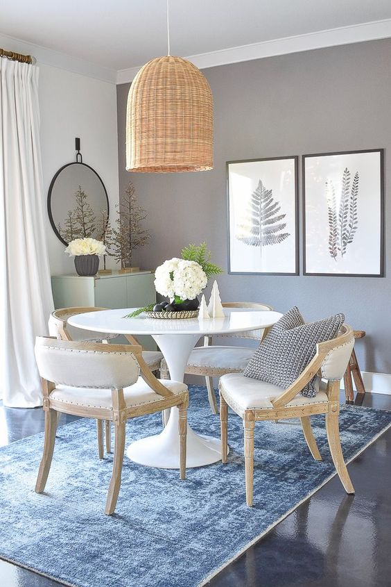 Casual Dining Room Ideas: Neutral Dining Room