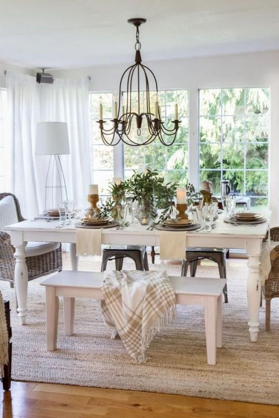 Casual Dining Room Ideas: Casual Bench Seat