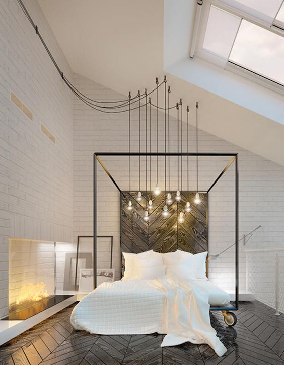 Industrial Bedroom Ideas: Exhilarating Pendant Lights