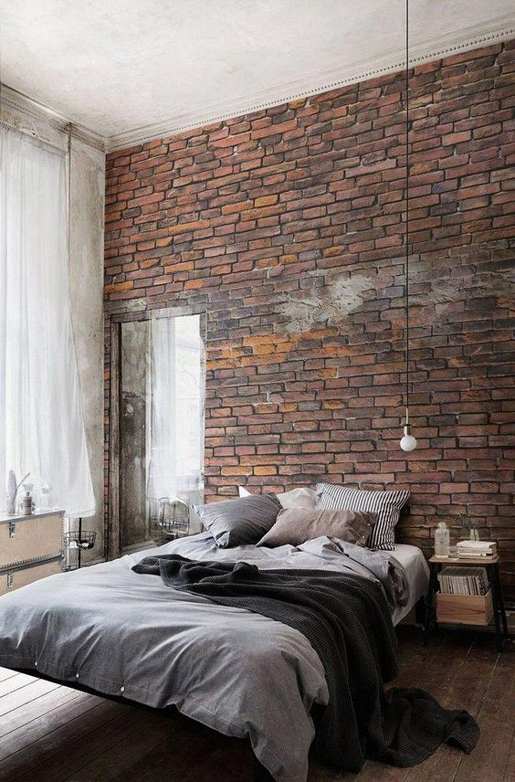 Industrial Bedroom Ideas: Unique Wall Fixture