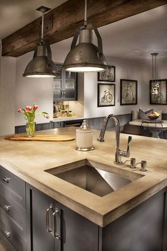 Industrial Kitchen Ideas 11