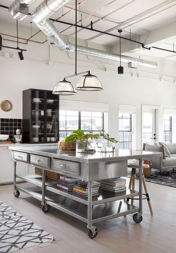 Industrial Kitchen Ideas: Bold Open Kitchen