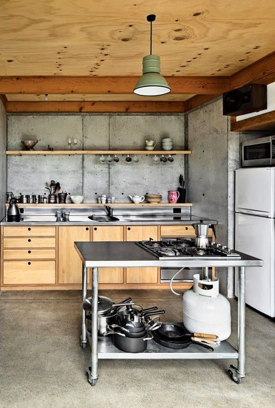 Industrial Kitchen Ideas: Warm Earthy Look