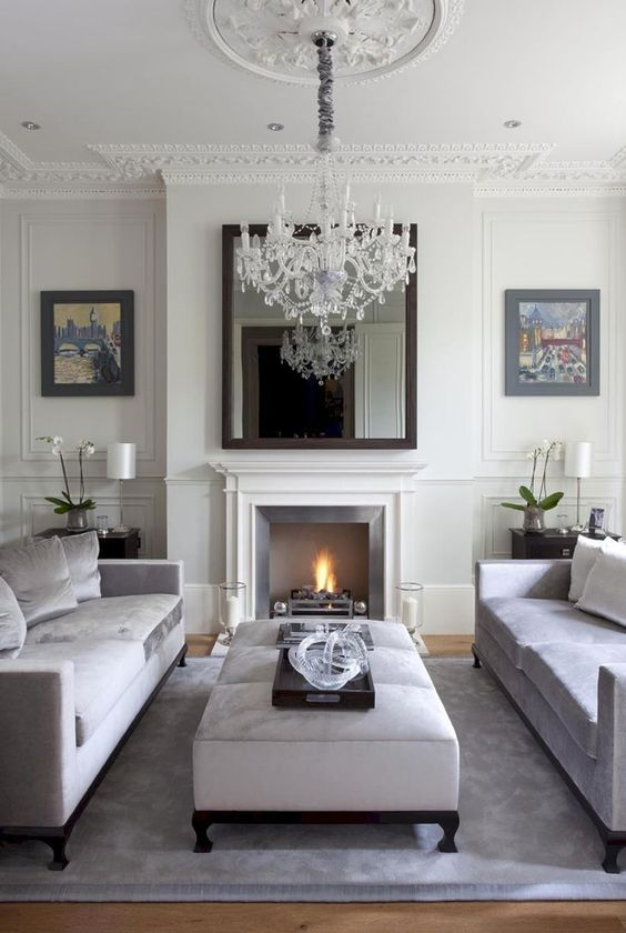 Living Room with Fireplace Ideas: Classic and Cozy