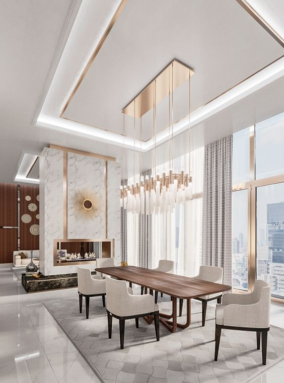 Dining Room Luxury Ideas: Breathtaking Rose Gold