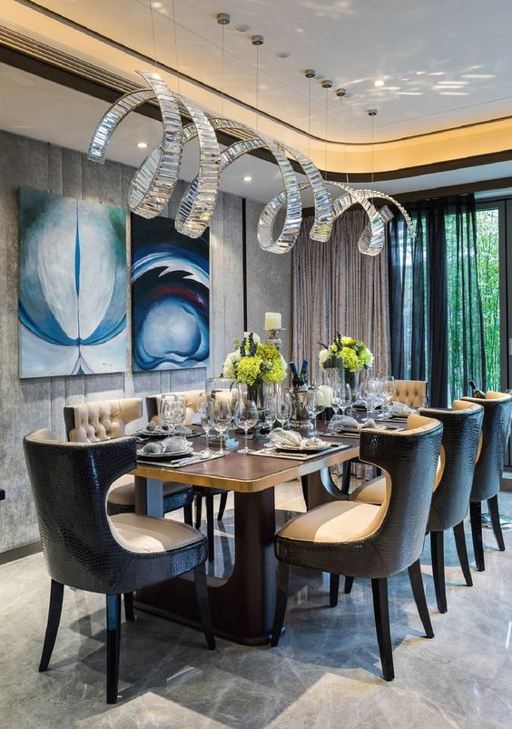 Dining Room Luxury Ideas: Unique Contemporary Design