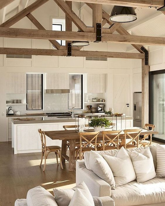 Open Kitchen Ideas: Relaxing Farmhouse Kitchen