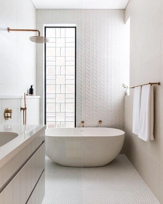 Scandinavian Bathroom Ideas: Minimalist Neutral Bathroom