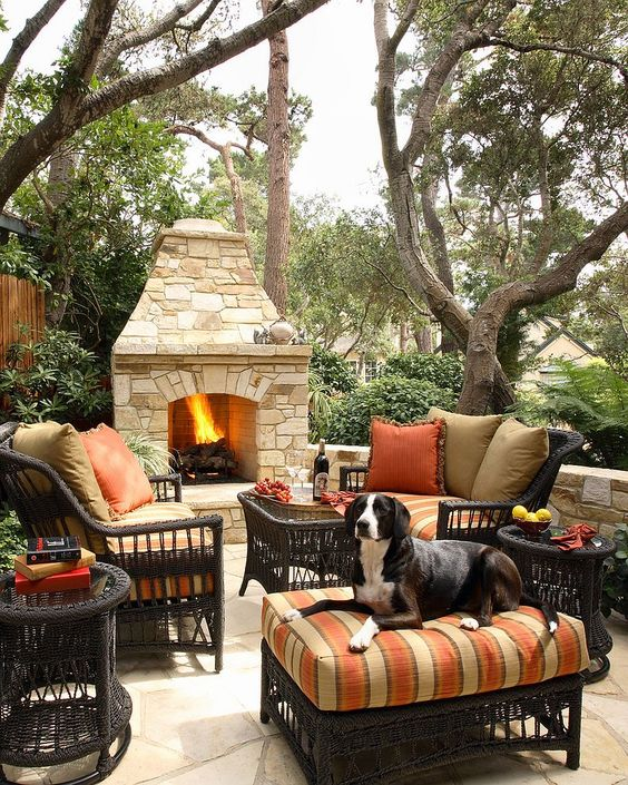 Backyard Fireplace Ideas 10