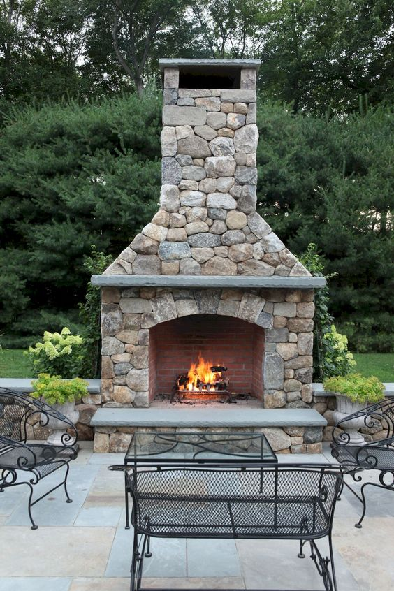 Backyard Fireplace Ideas 13
