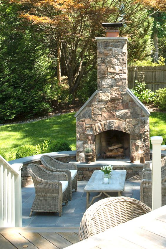 Backyard Fireplace Ideas 14
