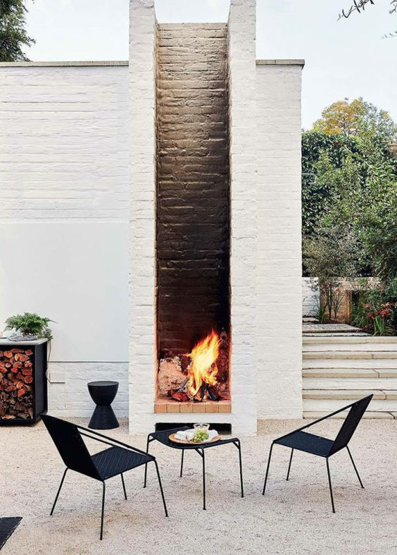 Backyard Fireplace Ideas 23