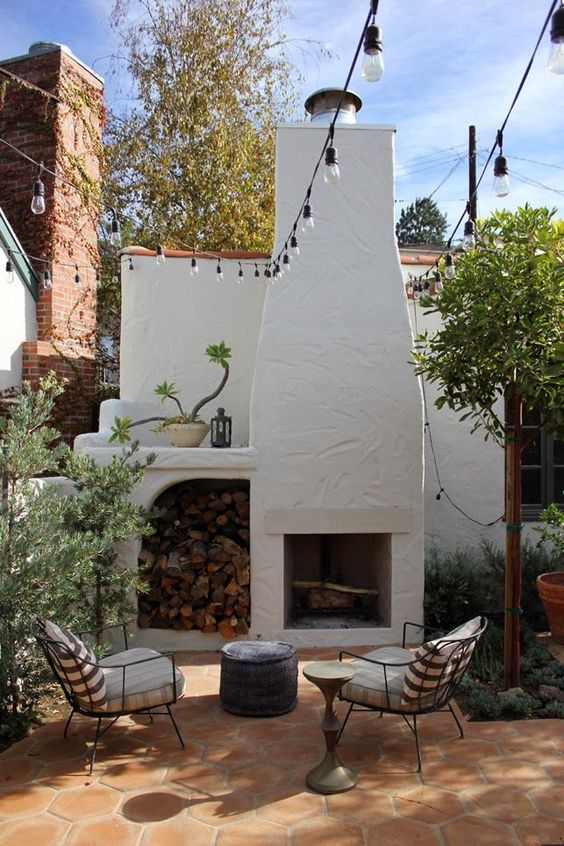 Backyard Fireplace Ideas 24
