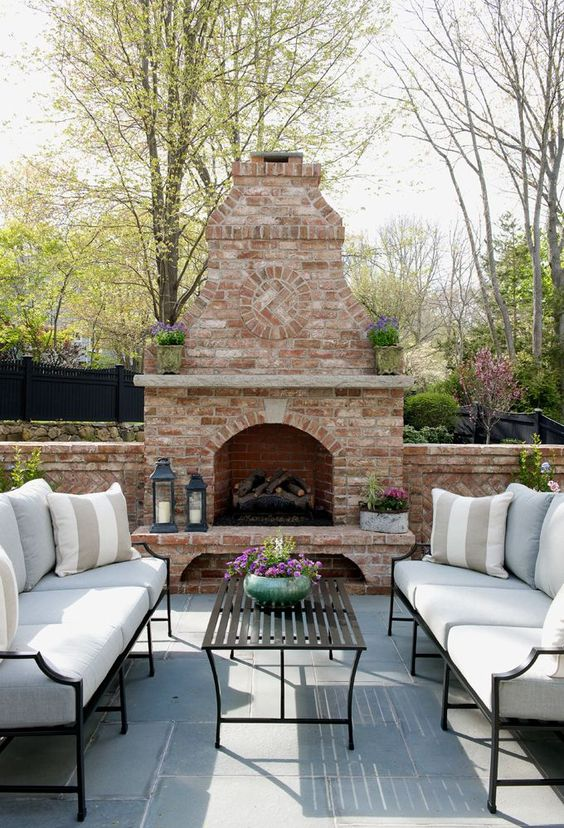 Backyard Fireplace Ideas: Modern Rustic Vibe