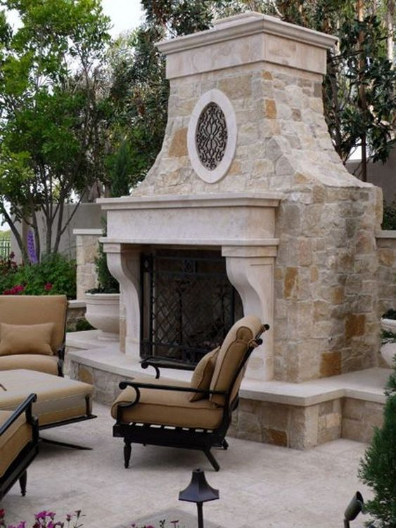 Backyard Fireplace Ideas 5