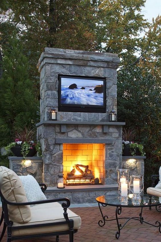 Backyard Fireplace Ideas 6