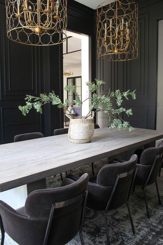 Black Dining Room Ideas 12