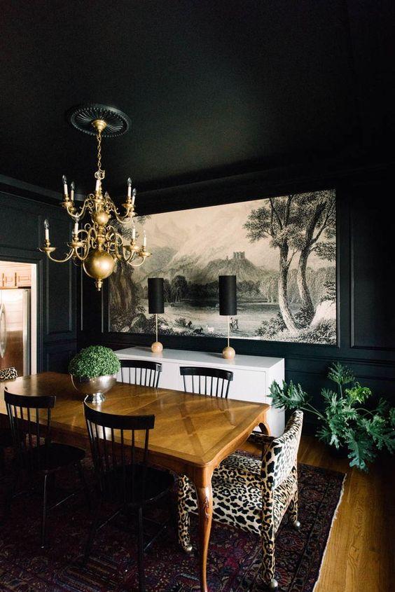 Black Dining Room Ideas 13