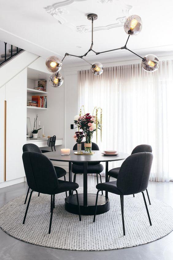 Black Dining Room Ideas 14