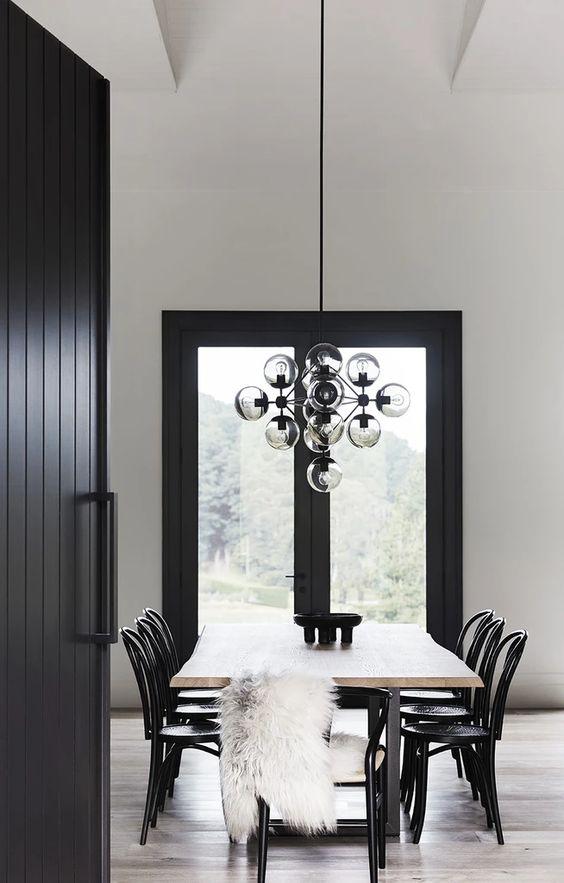 Black Dining Room Ideas 15