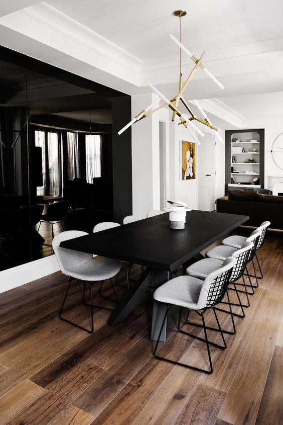 Black Dining Room Ideas 16