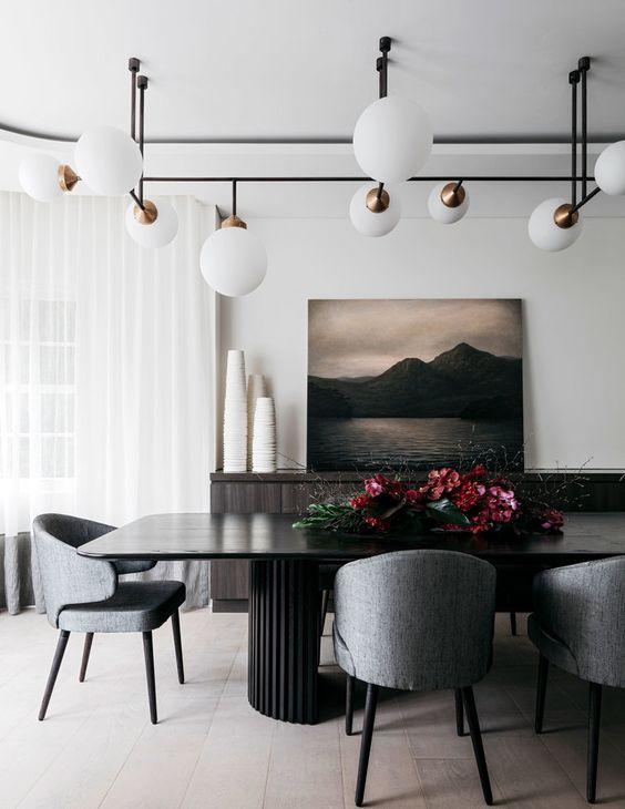 Black Dining Room Ideas 17