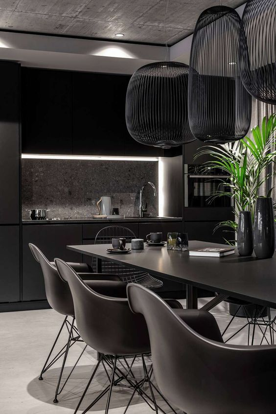Black Dining Room Ideas 18