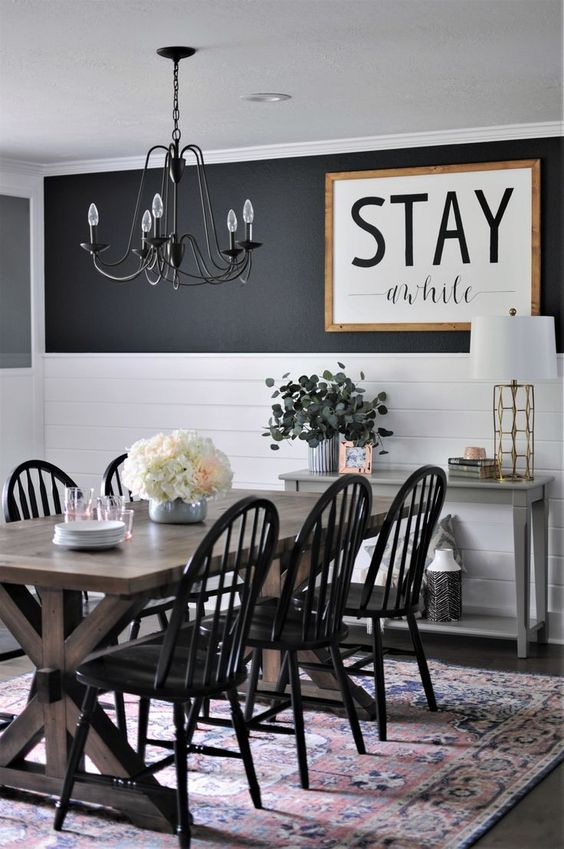 Black Dining Room Ideas 4