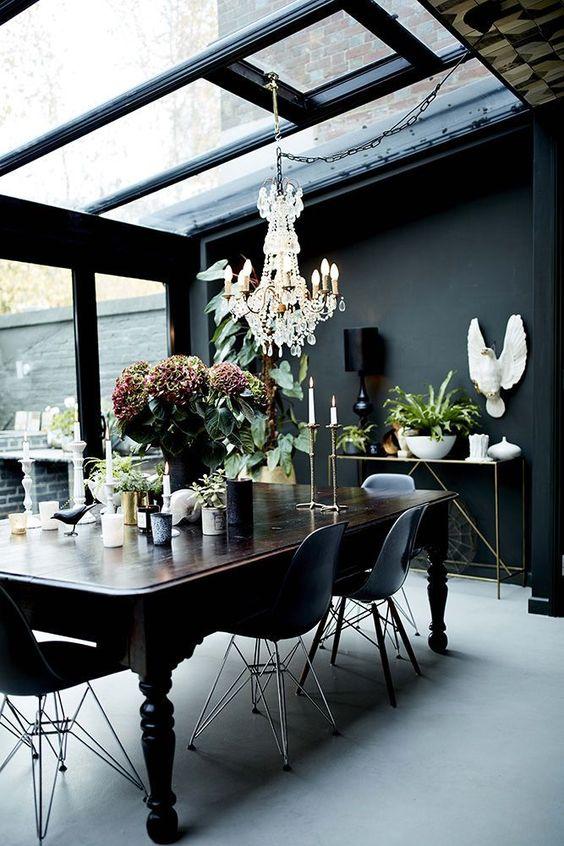 Black Dining Room Ideas 7