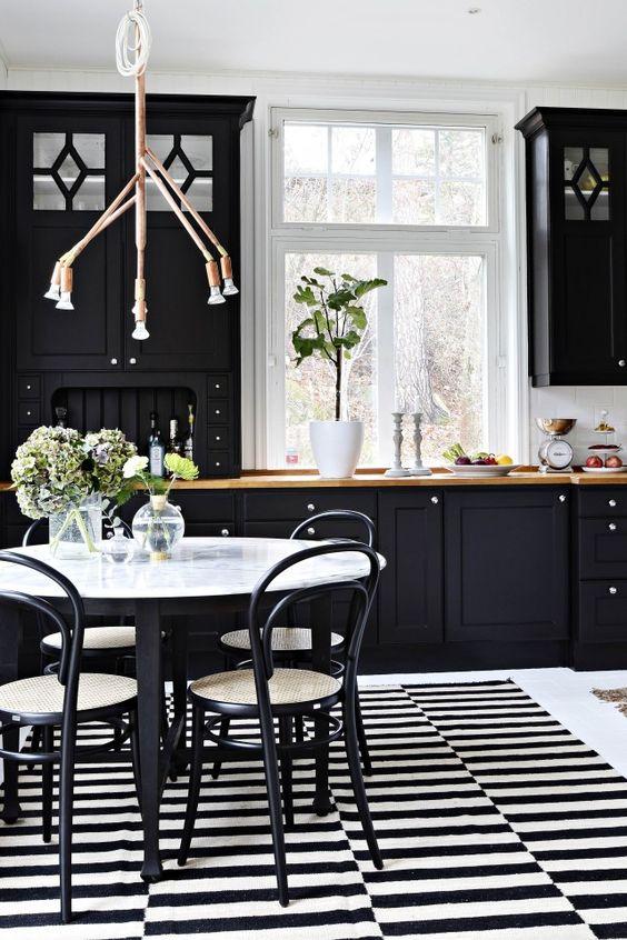 Black Dining Room Ideas 8