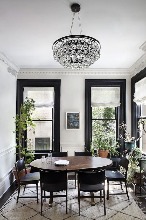 Black Dining Room Ideas 9