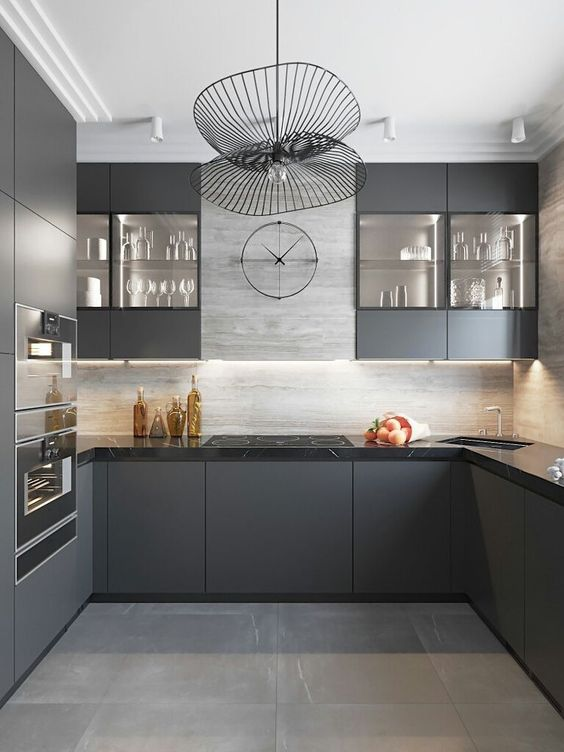 Kitchen Cabinets Ideas: Sleek Matte Cabinets