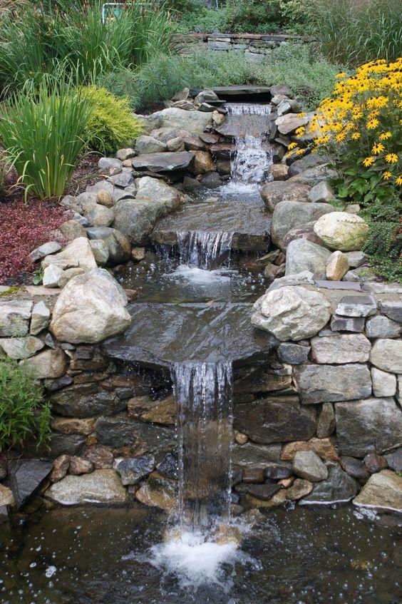 Backyard Waterfall Ideas: Stunning Rocky Waterfall